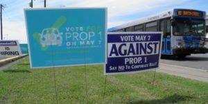 Austin Prop 1 Campaign Signs
