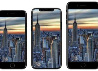 Rendering of iPhone 7S and iPhone 8