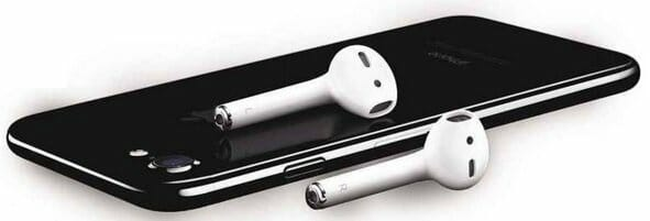 Apple iPhone with AirPods
