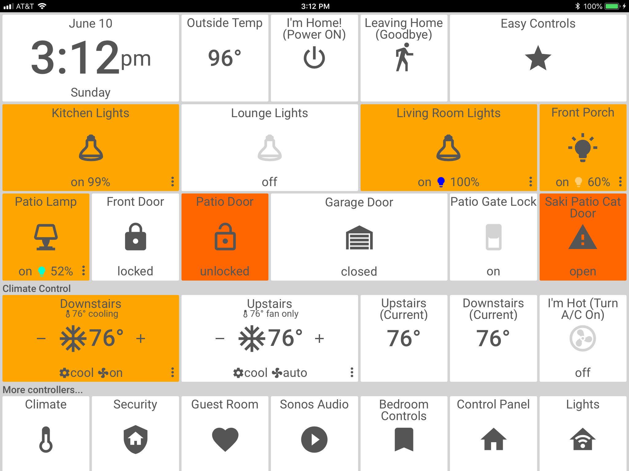 ActionTiles Home Screen | Average Tech Blog | Home Automation