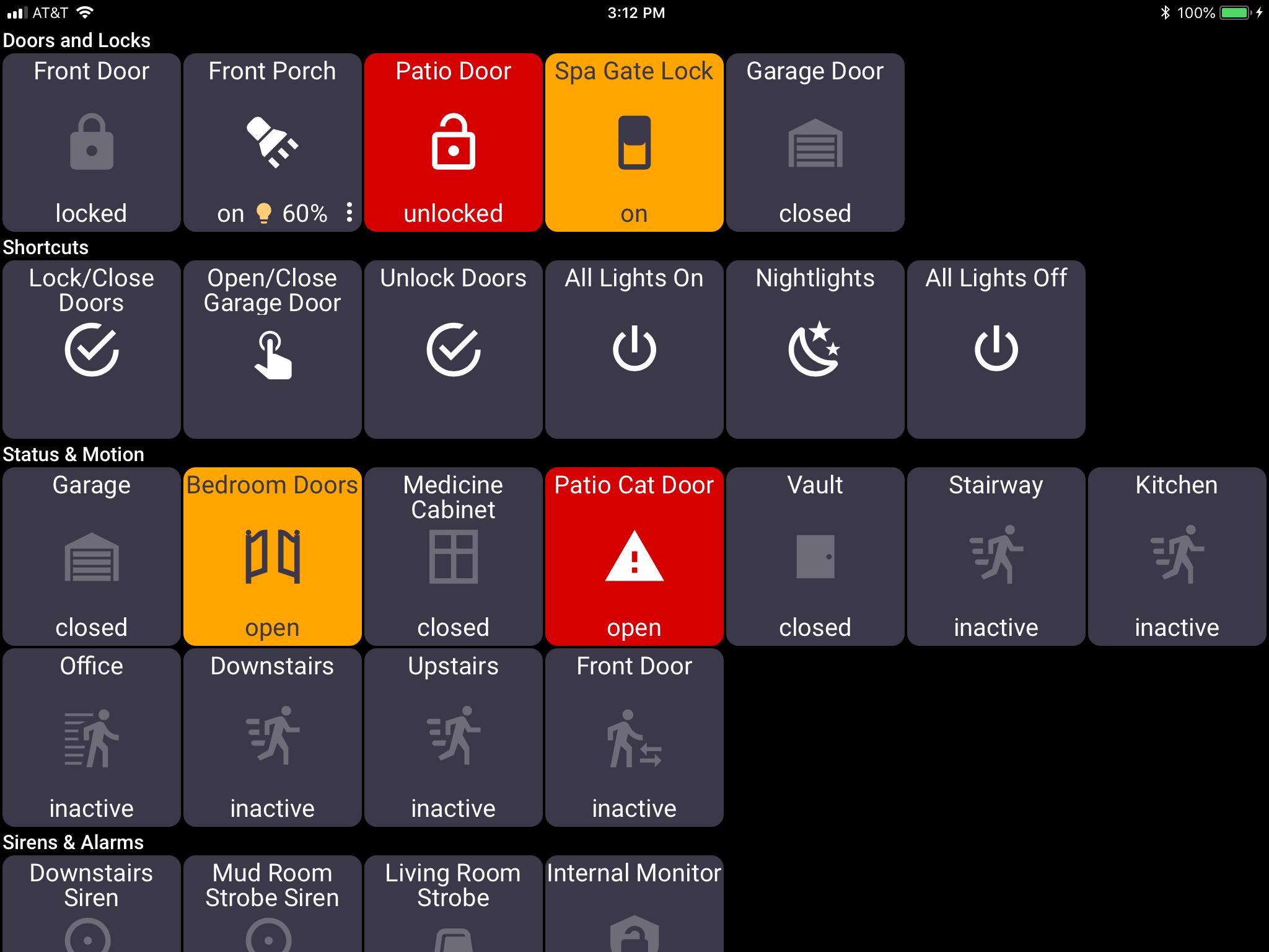 ActionTiles Security Screen | Average Tech Blog | Home