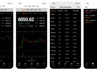 Bitcoin Ticker iOS App Screenshots