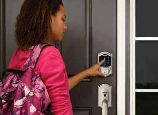 child using schlage zwave door lock