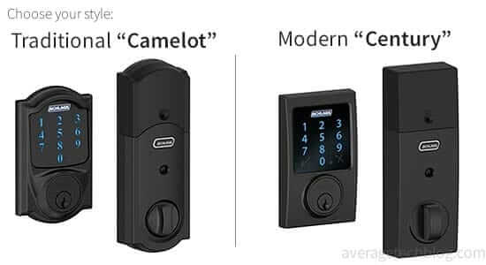 Schlage Door Lock Camelot vs. Century