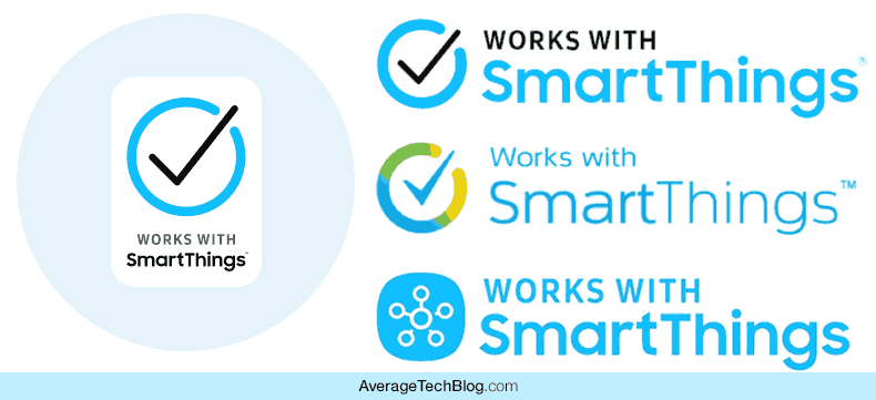Variations of Works with SmartThings logos for Z-Wave Devices with Native Compatibility