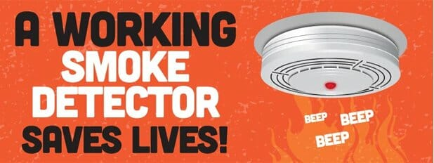 fire - smoke detector saves lives