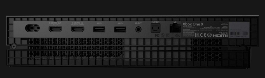 Xbox-One-X-Back-Ports